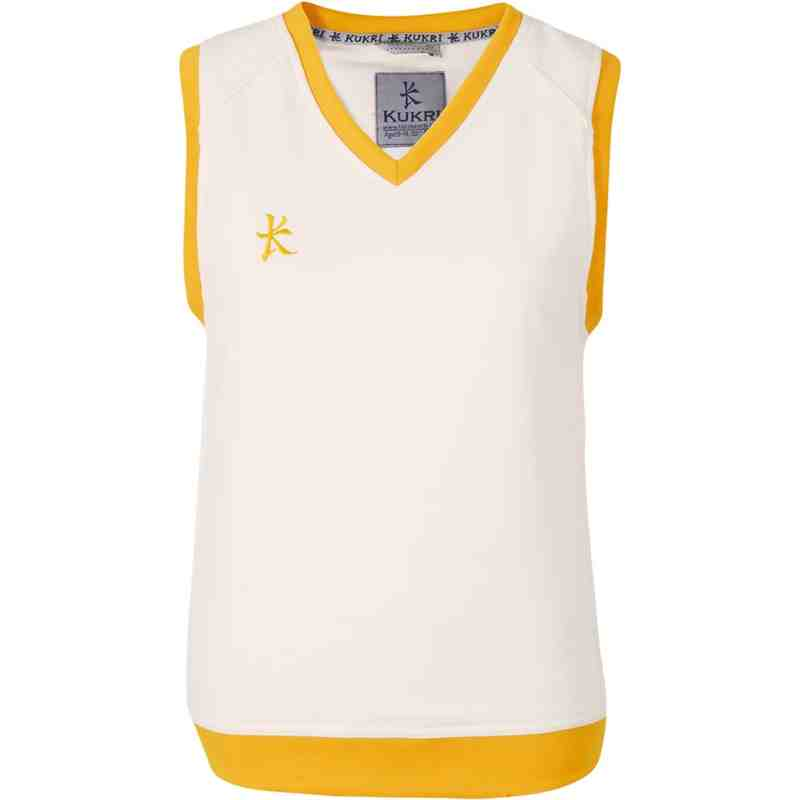 Cricket Fleece Sleeveless Amber Trim