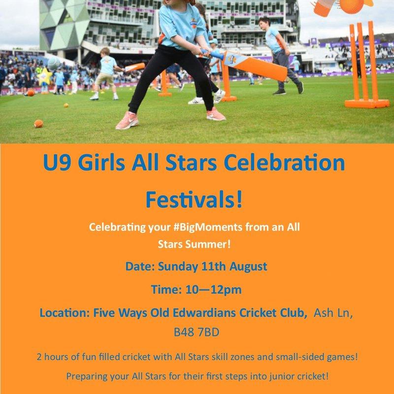 Under 9 Girls All Stars Celebration Festival