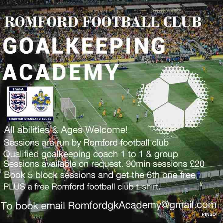 New Goalkeeping School