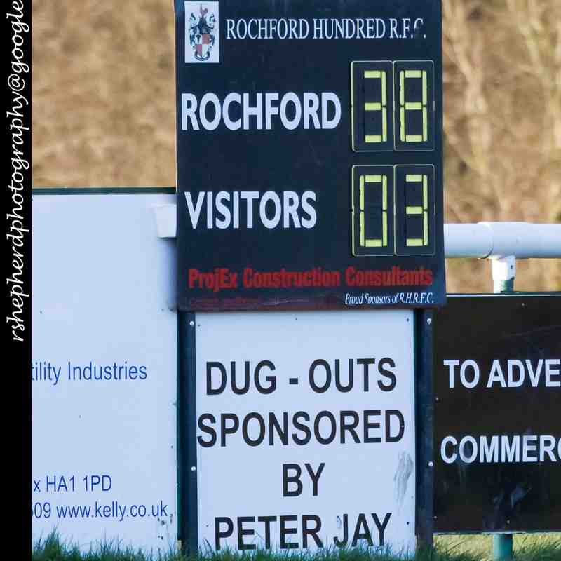 RHRFC vs Basildon 30th January 2016