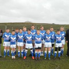 Mustangs U12s with support from The Rochdale Parachute Regimental Association