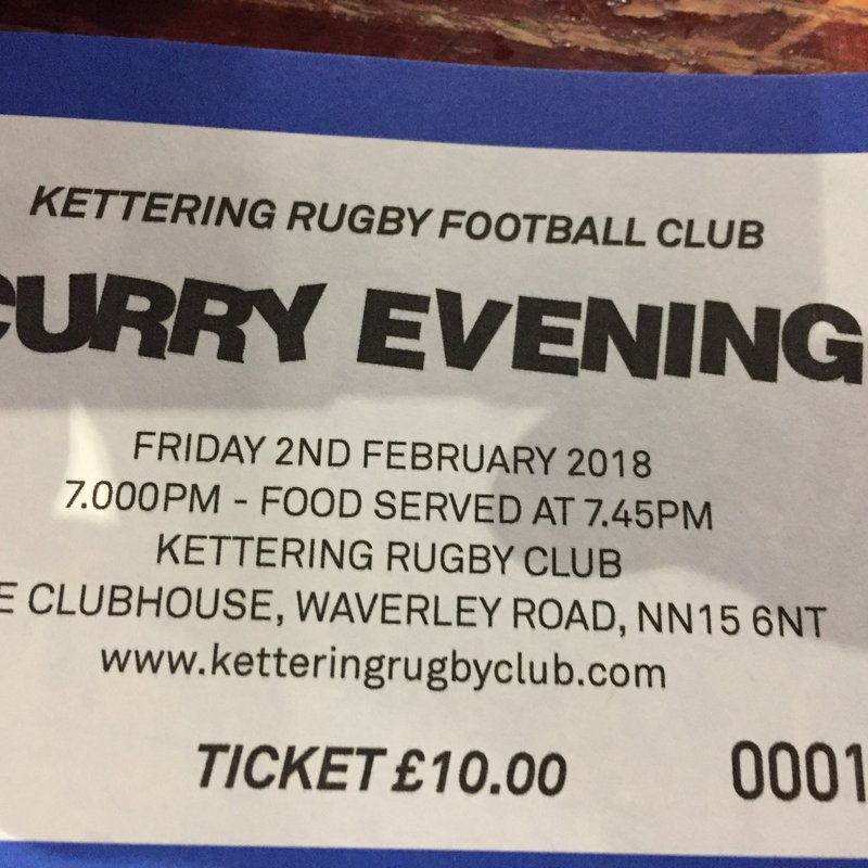 Curry Evening - Friday 2nd February
