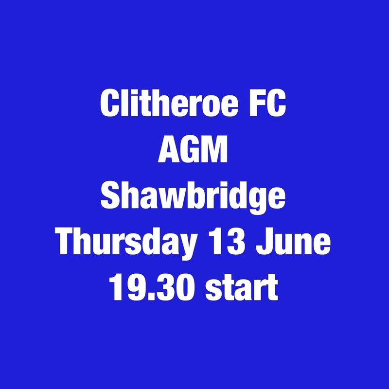 Clitheroe FC AGM