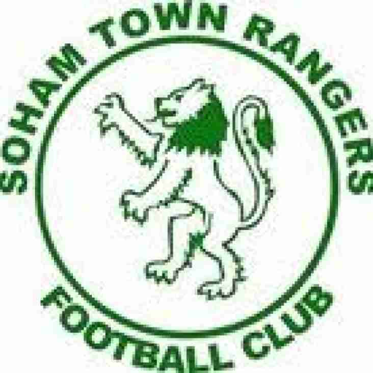 Today's match at Soham postponed.