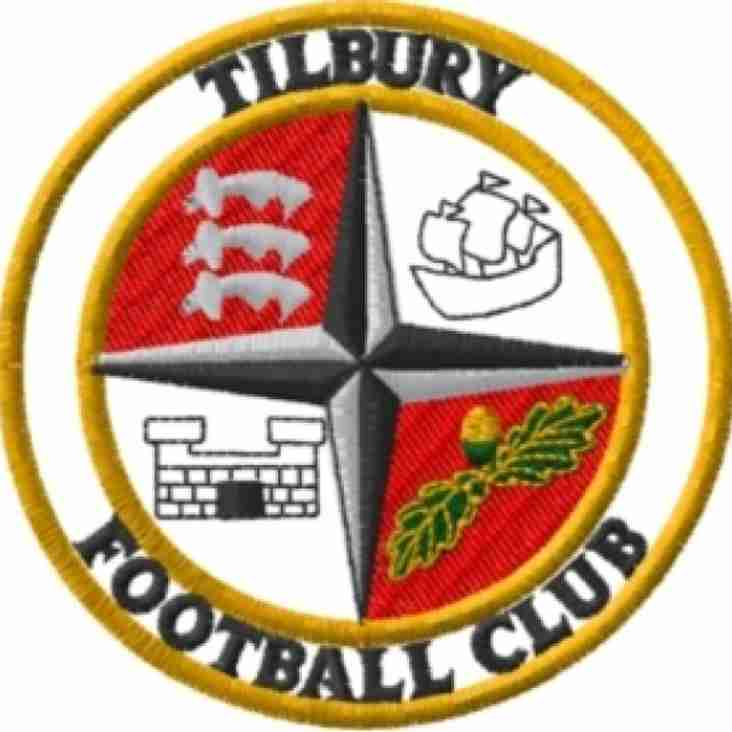 Tomorrow's match with Tilbury now a home game.