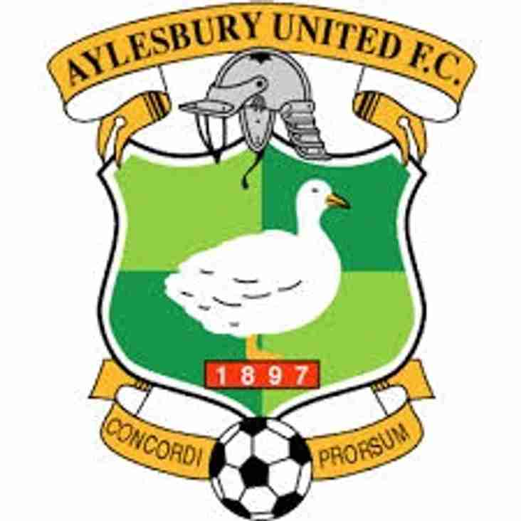 Next up - Aylesbury United home on Saturday