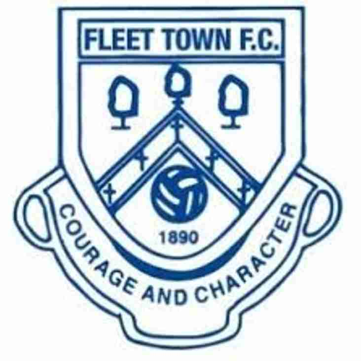 Next up - Fleet Town home on Saturday