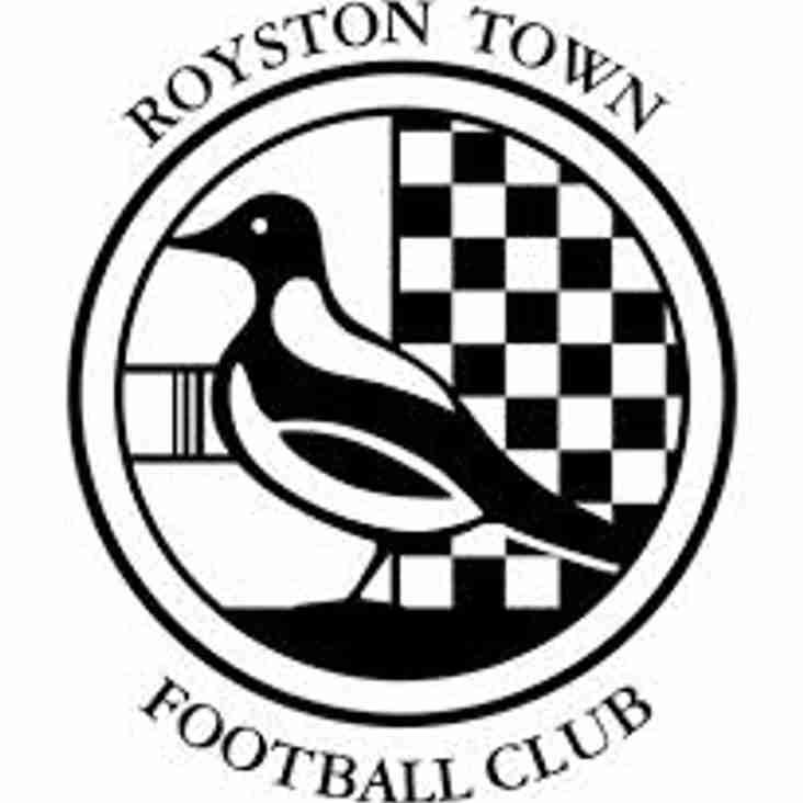 Next up - Royston away on Tuesday