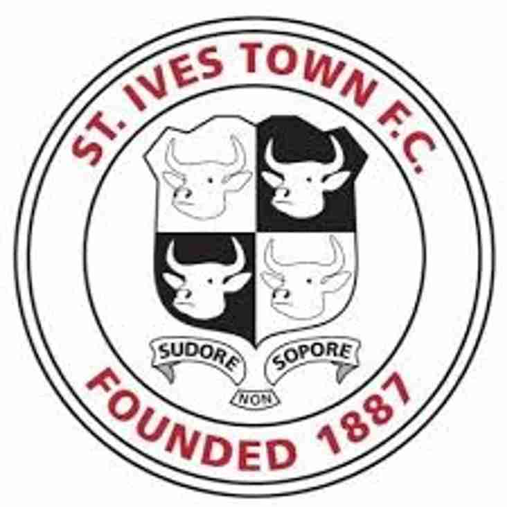 Next up - St Ives Town home this Tuesday