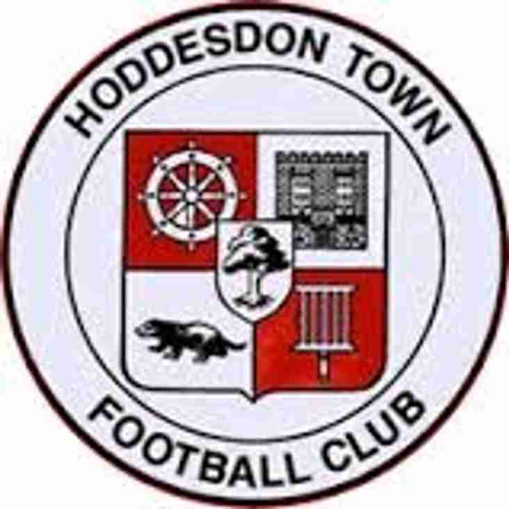 Next up - Hoddesdon away on Tuesday.