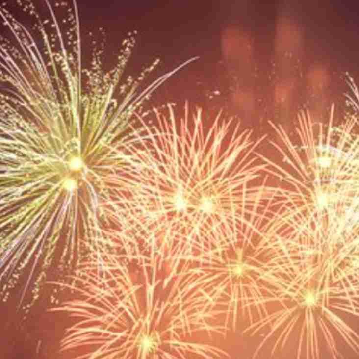Saturday 3rd November: Fireworks night
