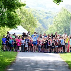 Juniors at Parkrun by David Belshaw