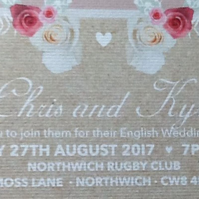 Wedding reception invitation to ALL