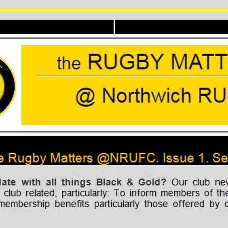 the RUGBY MATTERS @ Northwich