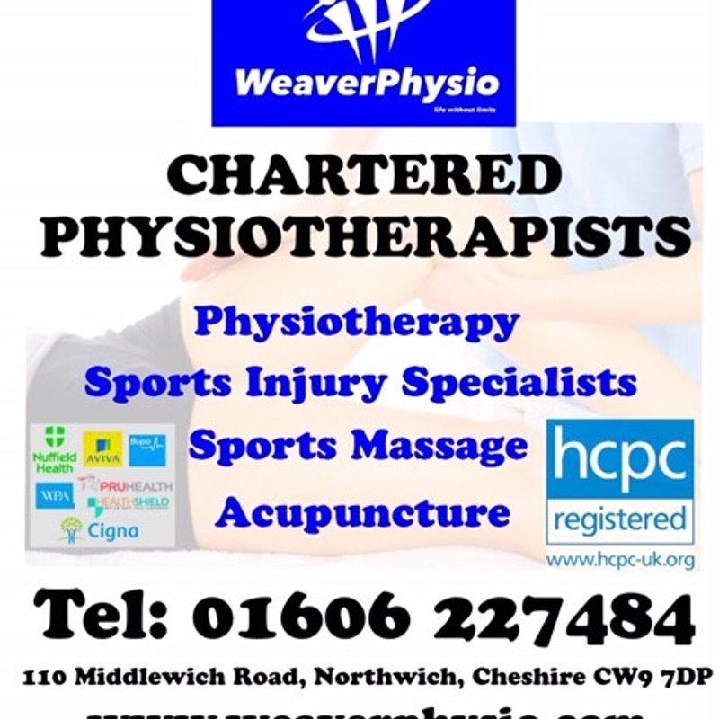 Weaver Physio welcomed as new sponsors