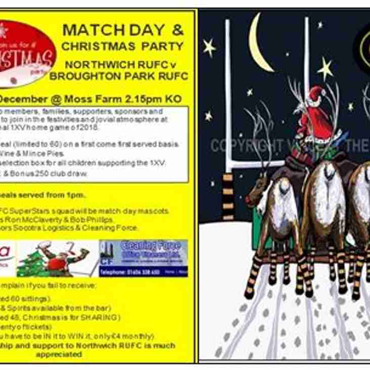 8th Dec Match day & Christmas party