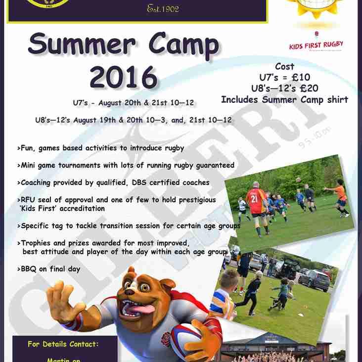 Mini's Summer Camp 2016