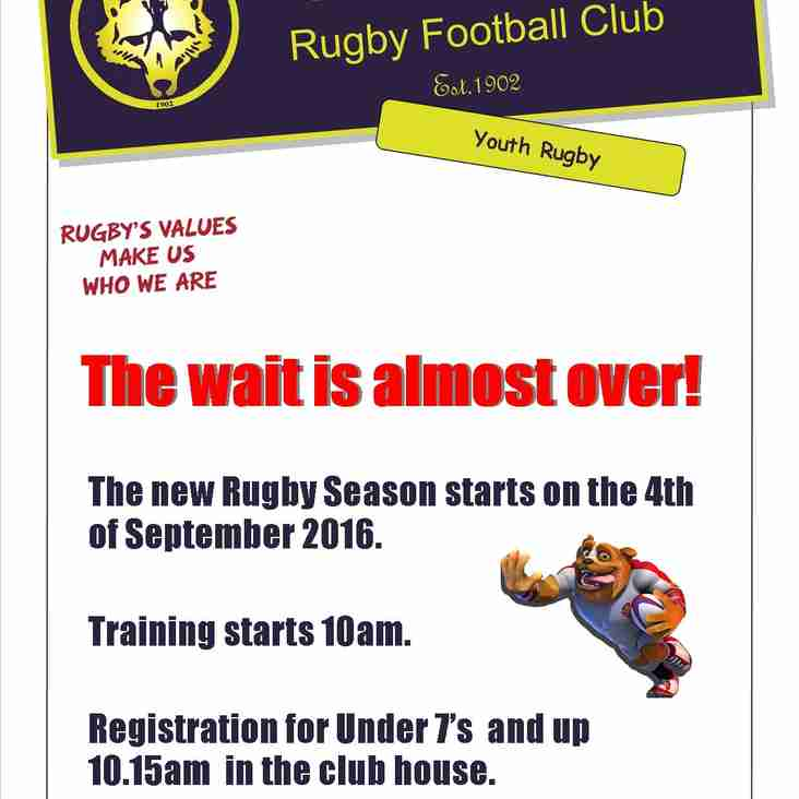The wait is over, Rugby season is here