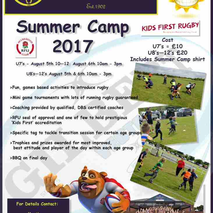 Coalville RFC annual mini's summer camp