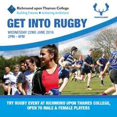 Teddington RFC Supporting Girls Rugby at Richmond College
