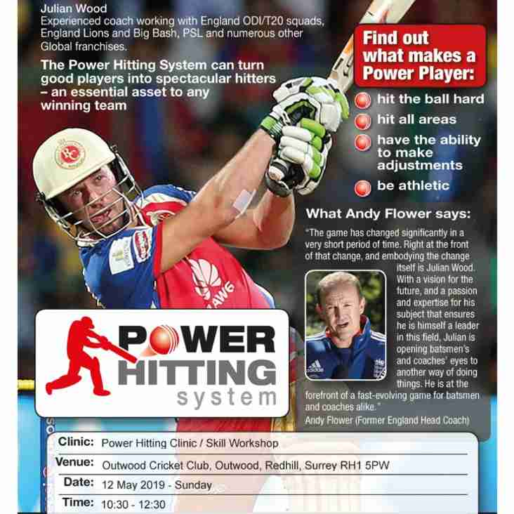 Power Hitting Clinic and Skills Workshop on offer to OCC members