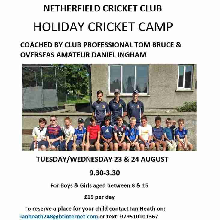 Holiday Cricket Camp @ Netherfield Cricket Club