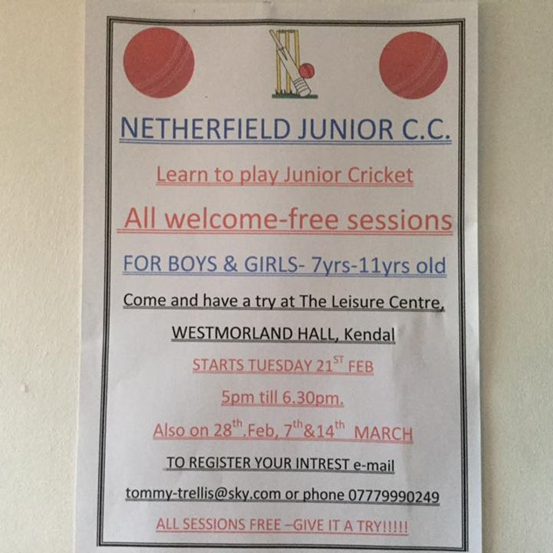 Junior Introductory Cricket Sessions