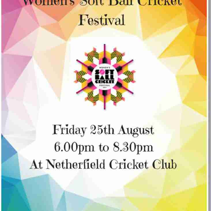 Womans Soft Ball Cricket Festival