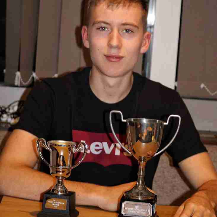 Theo presented with David Wheatman Trophy
