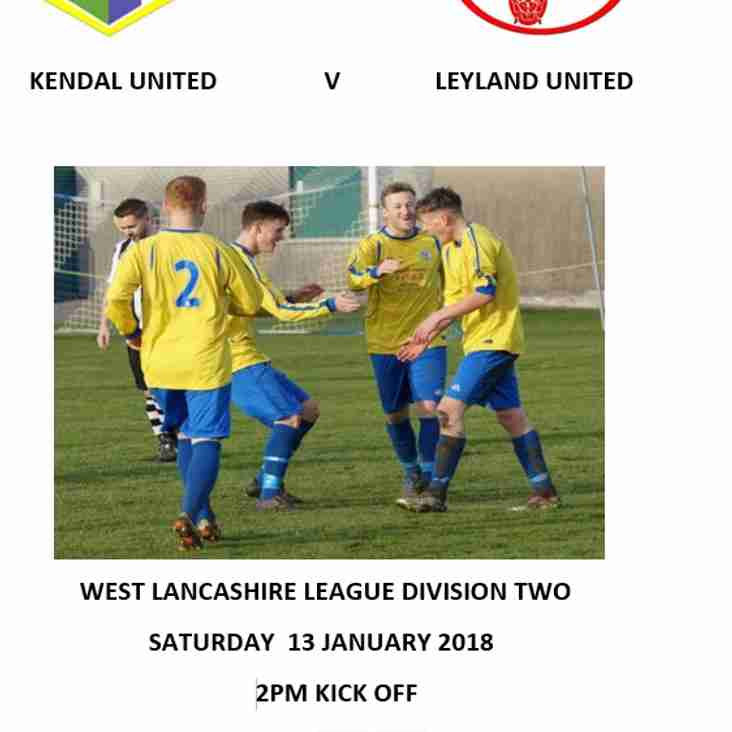 First Team Preview and Match Programme