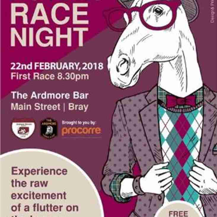 Race Night in The Ardmore Bar