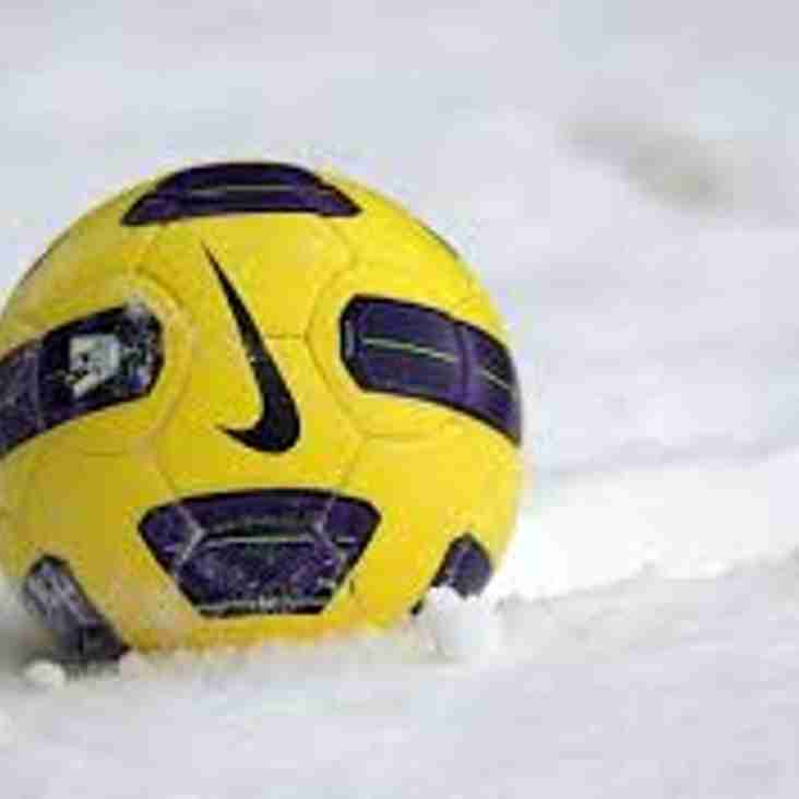 All Fixtures Cancelled this weekend