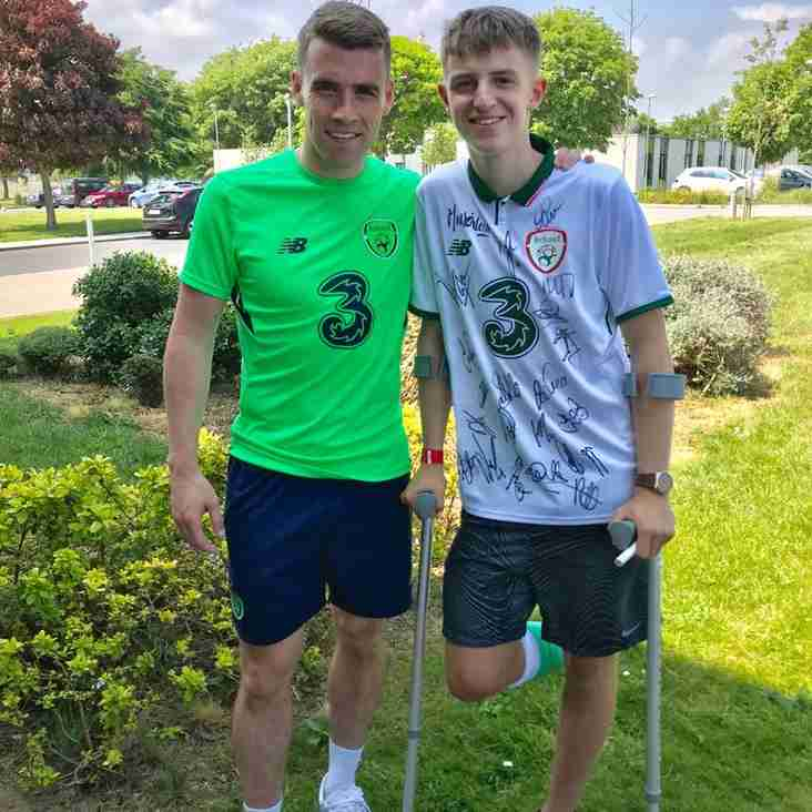 Youth Player Brandon King meets the Ireland Team