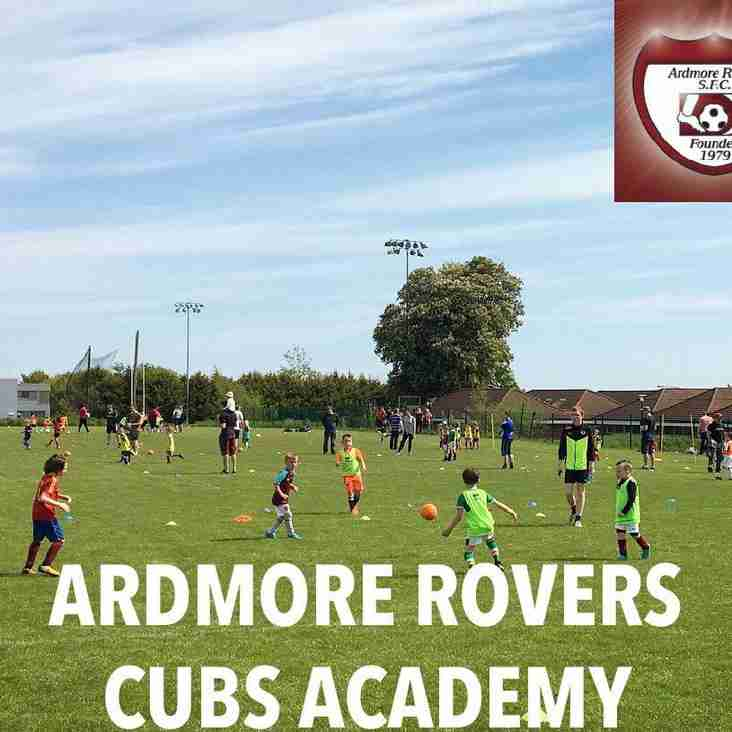Ardmore Rovers Cubs Academy Return Date Confirmed