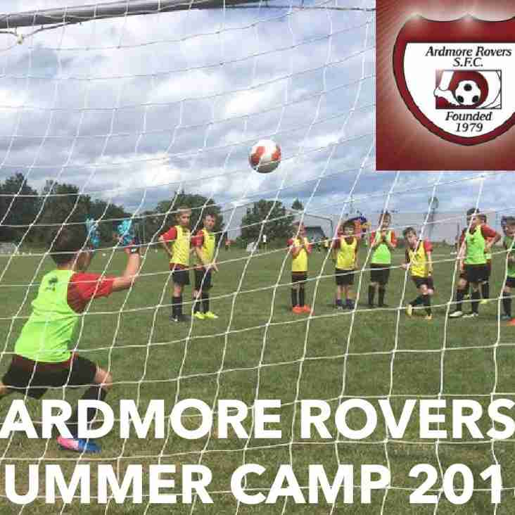 Registration for Ardmore Rovers Summer Soccer Camp This Saturday, June 30th