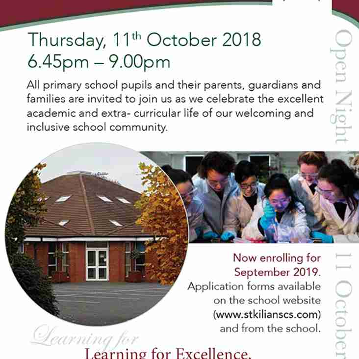 St. Kilian's Community School Open Night