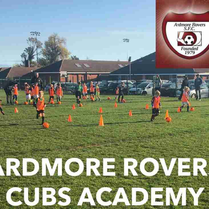 **IMPORTANT NOTICE** - Cub Academy Change of Venue