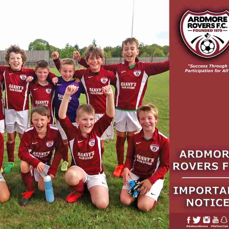 Ardmore Rovers Look To Create Parents Committee