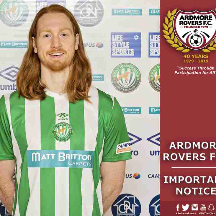 Ardmore Rovers Guest of Bray Wanderers for First Home Game of Season