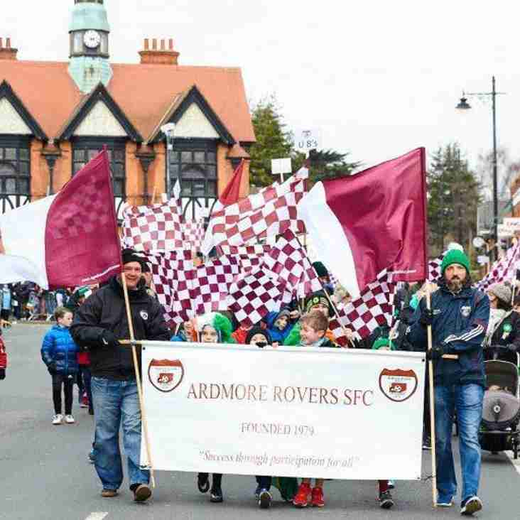 Ardmore Rovers March in Bray St. Patrick's Day Parade 2019