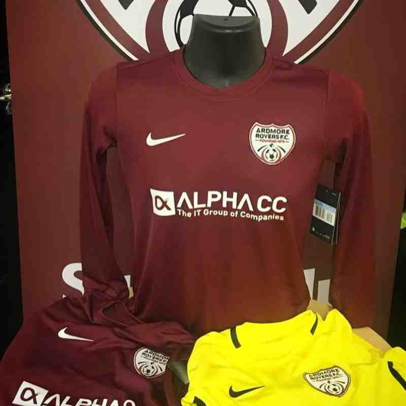 New Ardmore Rovers Nike Jerseys Thanks to our Club Sponsors 2019