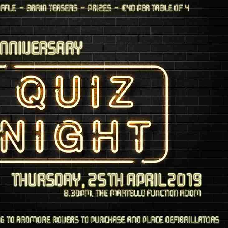 40th Anniversary Quiz Night - Thursday April 25th