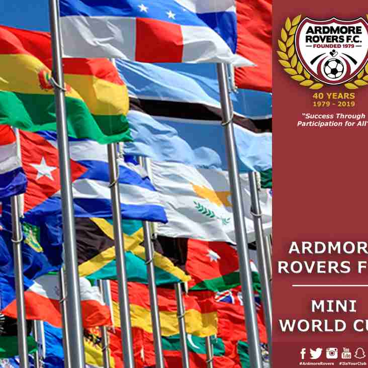 Ardmore Rovers Mini World Cup 2019 Registration Now Open