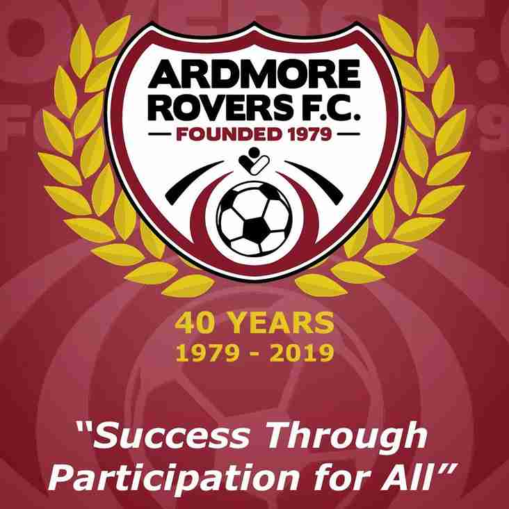 Details of the new Ardmore Rovers Executive Committee and Elected Officers for 2019/20 Season
