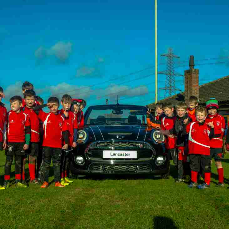 Lakenham Hewett Mini Rugby Club take on Mini Cooper