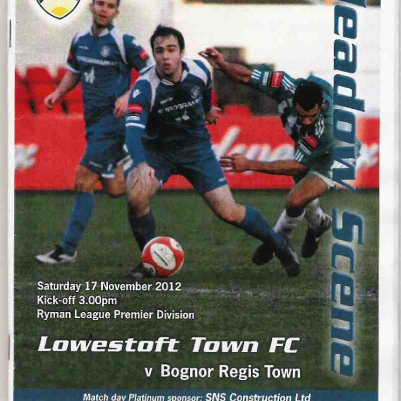 Lowesfoft Town Vs Bognor Regis Town.17/11/2012