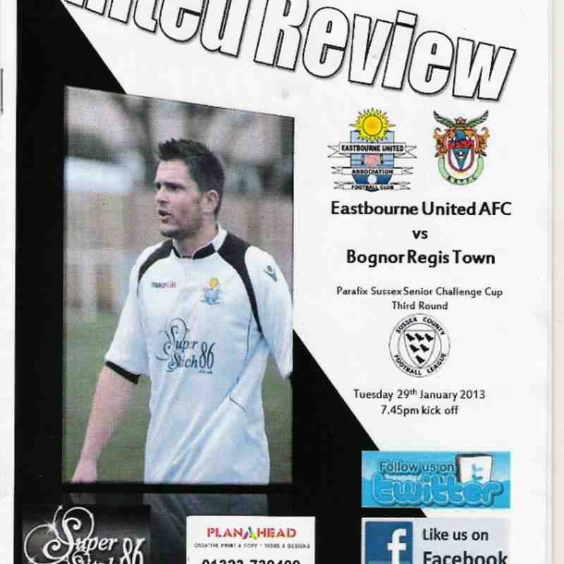 Eastbourne United Association Vs Bognor Regis Town.29/01/2013
