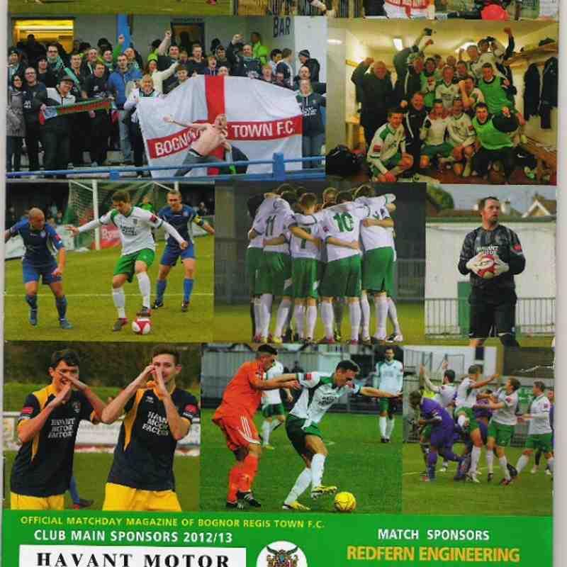 Bognor Regis Town V Lowestoft Town.20/04/2013