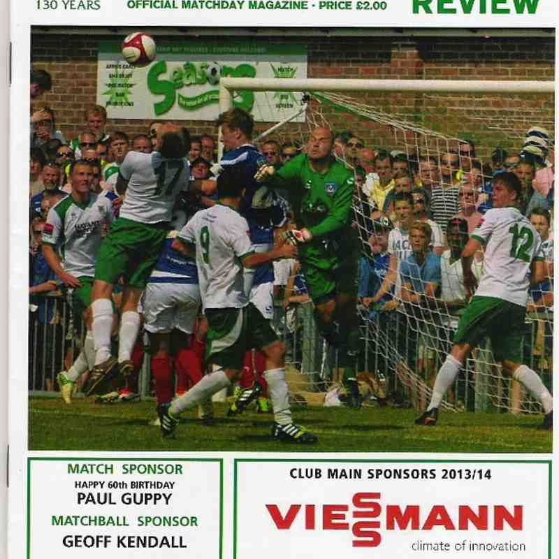 Bognor Regis Town Vs Grays Athletic. 10th August 2013