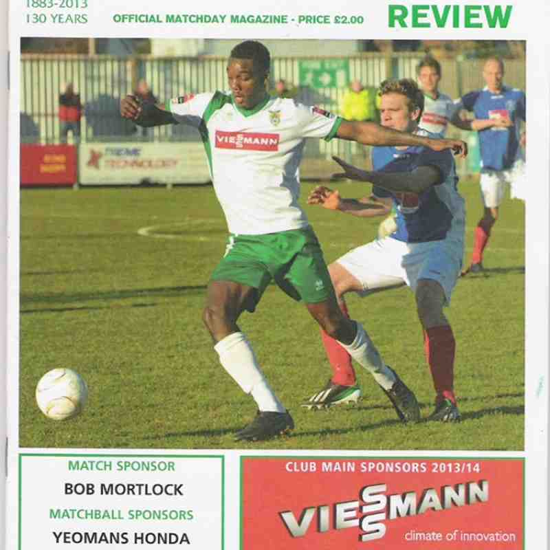 Bognor Regis Town.Vs Kingstonian.25/03/2014